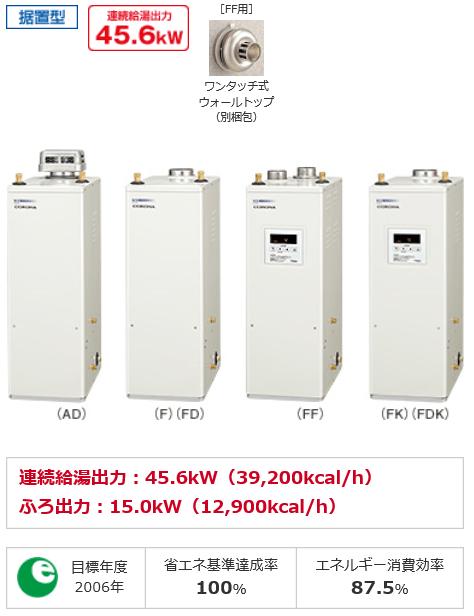 給湯器の費用コロナ貯湯式の交換