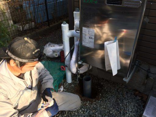 エコフィール 給湯器の交換 凍結防止の工事 盛岡